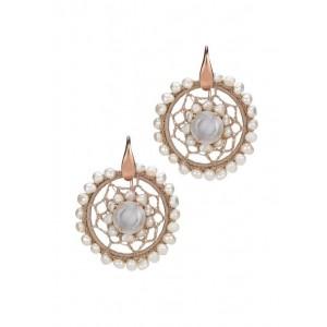 Orecchini macramè con perle